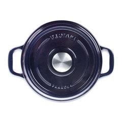 Кастрюля чугунная 20см (2,5л) INVICTA Bleu reglisse арт. 402209