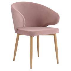 Кресло Berg Cecilia, велюр, пудрово-розовое BAAR-CEBK3665