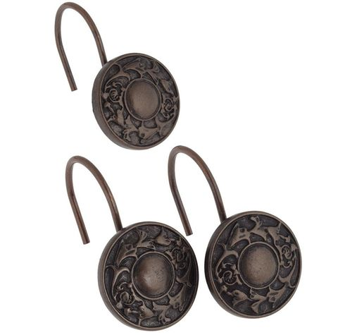 Набор из 12 крючков для шторки Carnation Home Fashions Oil Rubbed Regency Bronze PHP-REG/67