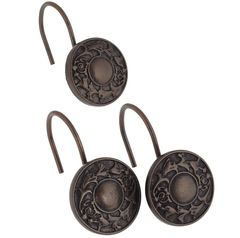 Набор из 12 крючков для шторки Carnation Home Fashions Oil Rubbed Regency Bronze PHP-REG/67