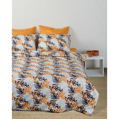 Комплект постельного белья полутораспальный из сатина с принтом Leaves из коллекции Wild Tkano TK20-DC0003
