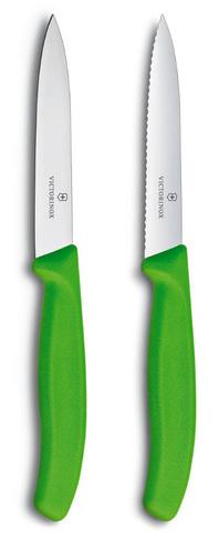 Набор Victorinox кухонный, 2 предмета прямое и волнистое, зеленый* MV-6.7796.L4B
