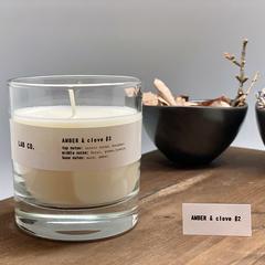 Свеча Ambientair ароматическая LAB CO, Амбра и гвоздика, 40 ч VV040GCLB