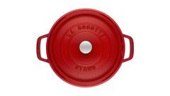 Кокот Staub круглый, 30 см, 8,35 л, вишневый 1103006