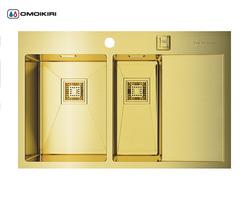 Кухонная мойка из нержавеющей стали OMOIKIRI Akisame 78-2-LG-L (4993087)