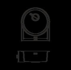Кухонная мойка из нержавеющей стали OMOIKIRI Toya 45-GM (4993072)