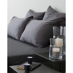 Комплект постельного белья полутораспальный из сатина темно-серого цвета из коллекции Wild Tkano TK20-DC0009