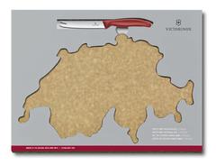Набор Victorinox Swiss Map: нож для овощей и сыра 11 см + разделочная доска Epicurean 6.7191.CH