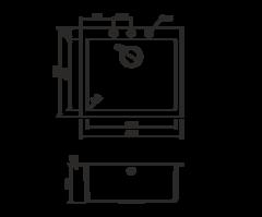 Кухонная мойка из искусственного гранита (Tetogranit) OMOIKIRI Bosen 57-BL (4993145)