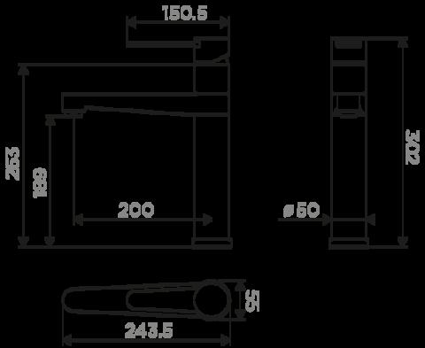 Смеситель для кухни OMOIKIRI Toyama (4994117)