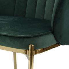 Кресло Berg Coral, велюр, темно-зеленое UCH-COG062192
