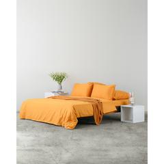 Комплект постельного белья полутораспальный из сатина цвета шафрана из коллекции Wild Tkano TK20-DC0007