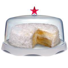 Тортовница подарочная merry tray большая белая QL10039-WH