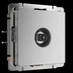 ТВ-розетка оконечная  (cеребряный рифленый) WL09-TV Werkel