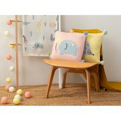 Подушка декоративная с помпонами Ежик Ugo из коллекции Tiny world 35х35 см Tkano TK20-KIDS-CU0003