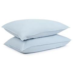 Комплект постельного белья полутораспальный небесно-голубого цвета из органического стираного хлопка из коллекции Essential Tkano TK20-BLI0011