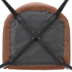Стул Berg Calvin, экокожа, светло-коричневый BECH-CAMF7