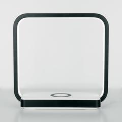 Светодиодная настольная лампа с беспроводной зарядкой QI Eurosvet Frame 80502/1 черный