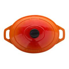 Кастрюля чугунная 29 см (4,5л), овальная, CHASSEUR Orange арт. 372907