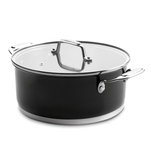 Кастрюля 24см (4,2 л) LACOR Cookware Black арт. 44024