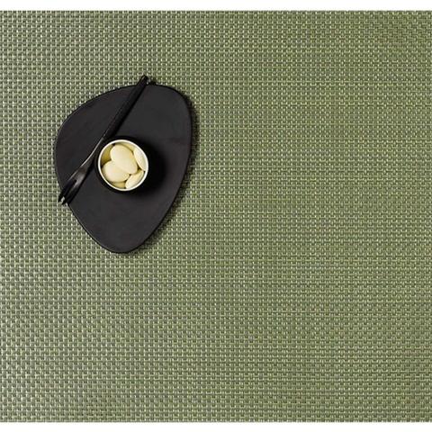 Салфетка подстановочная, жаккардовое плетение, винил, (36х48) Grass green (100110-015) CHILEWICH Basketweave арт. 0025-BASK-GRAS