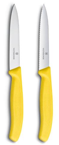 Набор Victorinox кухонный, 2 предмета прямое и волнистое, желтый MV-6.7796.L8B