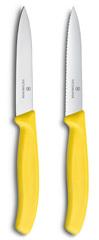 Набор Victorinox кухонный, 2 предмета прямое и волнистое, желтый 6.7796.L8B