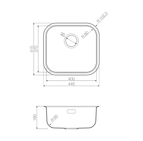 Кухонная мойка из нержавеющей стали OMOIKIRI Omi 44-GM (4993191)