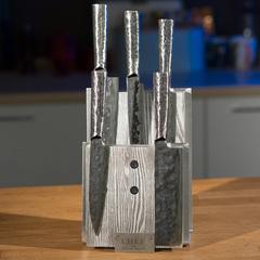 Комплект из 5 ножей Samura METEORA и серой подставки
