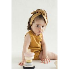 Боди из хлопкового муслина горчичного цвета из коллекции Essential 12-18M Tkano TK20-KIDS-BOD0004