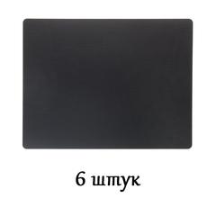 Комплект из 6 подстановочных салфеток 35x45 см LindDNA Bull black 98402