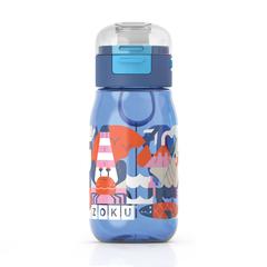 Бутылочка детская с крышкой 475 мл синяя Zoku ZK202-BL