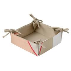 Корзинка для хлеба из хлопка бежевого цвета с авторским принтом из коллекции Freak Fruit, 30х30 см Tkano TK20-BB0005