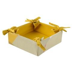 Корзинка для хлеба из хлопка горчичного цвета с авторским принтом из коллекции Freak Fruit, 30х30 см Tkano TK20-BB0006