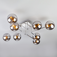 Потолочный светильник с круглыми стеклянными плафонами Eurosvet Evita 30140/8 хром