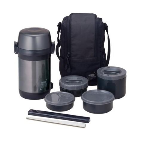 Многофункциональный термос для еды Thermos JLS-1601 Food (1,6 литра) черный