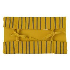 Корзинка для хлеба из хлопка горчичного цвета с принтом Полоски из коллекции Prairie, 30х30 см Tkano TK20-BB0004