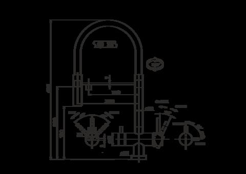 Смеситель для кухни OMOIKIRI Kanto-PVD-GM (4994013)