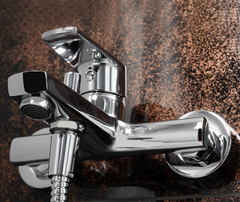 Dill 6101 Смеситель для ванны с коротким изливом WasserKRAFT Серия Dill 6100