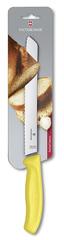 Нож Victorinox для хлеба 21 см волнистое, желтый, в блистере 6.8636.21L8B