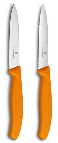 Набор Victorinox кухонный, 2 предмета прямое и волнистое, оранжевый MV-6.7796.L9B