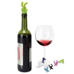 Пробка для бутылки и маркеры для бокалов Umbra drinking buddy 480320-022