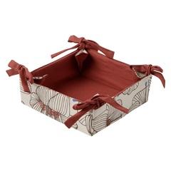 Корзинка для хлеба из хлопка терракотового цвета с принтом Цветы из коллекции Prairie, 30х30 см Tkano TK20-BB0001