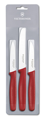 Набор Victorinox кухонный, 3 предмета, красный 5.1111.3