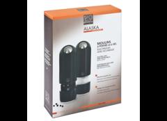 Набор мельниц Peugeot Alaska Duo для соли и перца, 17 см, черный кварц, на батарейках 2/28503