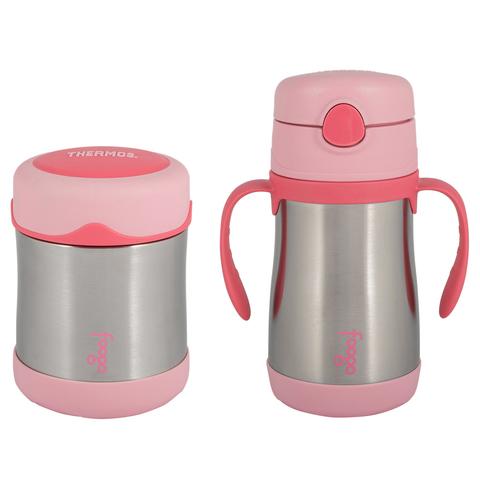 Детский набор Thermos B3000+BS535 PK (термос для еды, термос для напитков), розовый 303196