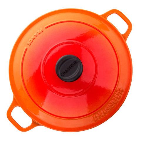Кастрюля с крышкой чугунная 26см (5,2л), с эмалированным покрытием, CHASSEUR Orange (цвет: оранжевый) арт. 372607