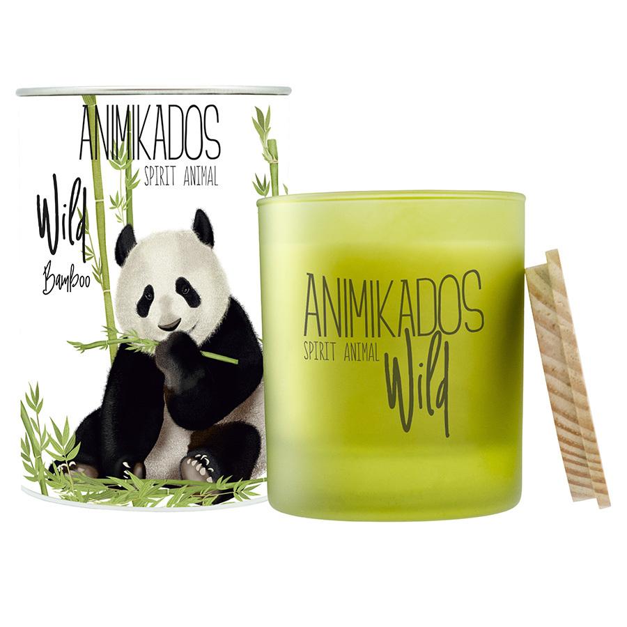 Свеча ароматическая Panda - бамбуковый Wild 40 ч Ambientair VV040BMAW