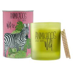 Свеча ароматическая Zebra - цветочный Wild 40 ч Ambientair VV040FOAW
