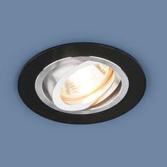Алюминиевый точечный светильник 1061/1 MR16 BK черный Elektrostandard